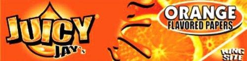 24 Packs (1 box) Juicy Jay's 1.25″ Pure Hemp Rolling Papers – Orange