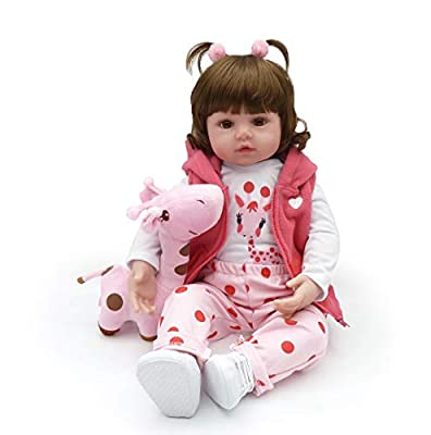 Reborn Baby Dolls, Realistic Newborn Baby Dolls, 18 inch Silicone Real Toddler Girl Lifelike by Kaydora