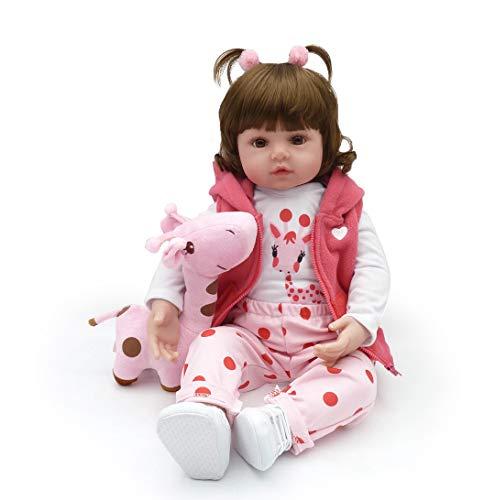 Reborn Baby Dolls, Realistic Newborn Baby Dolls, 18 inch Silicone Real Toddler Girl Lifelike
