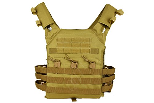 QHIU Gilet tattico Protezione Regolabile Leggero Camouflage Panciotto Giubbotti Militare Assault Combat Molle Vest per Softair Paintball CS Sport all'Aria Aperta