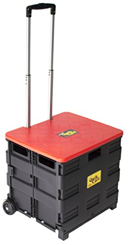 Cart Wheeled Rolling Crate Storage With seat