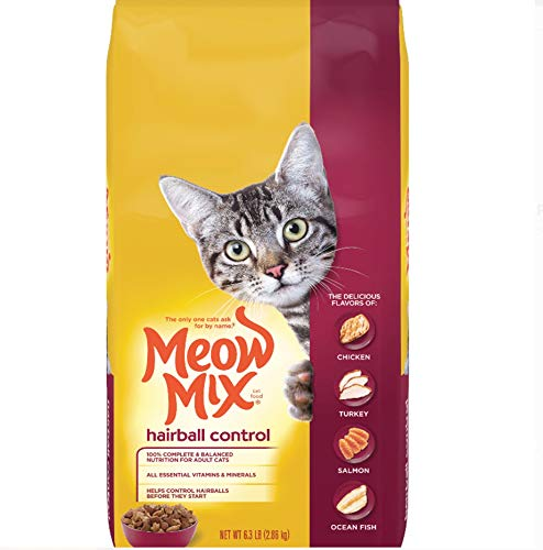 Meow Mix Hairball Control Dry Cat Food, 6.3 Pounds