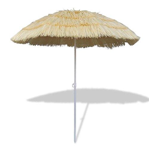 VidaXL Ombrellone Giardino Hawaii Crema Inclinabile Schermo Parasole Spiaggia