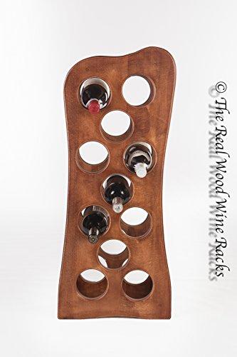 The Real Wood Wine Racks Weinregal/ Weinschrank Rook 11 Calvados, aus Echtholz, fasst 11Flaschen, für Küche/ Bar
