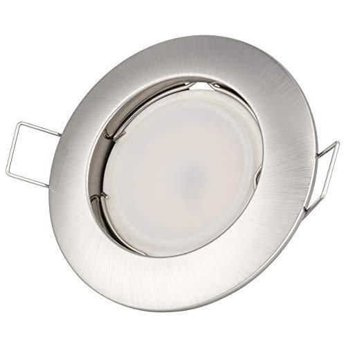 Set Einbaustrahler 230Volt 5Watt 400Lumen LED Warmweiß 120° Abstrahlwinkel GU10 Fassung Inklusive Rostfrei Nicht Dimmbar 5W EEK A+ 3000Kelvin Leuchtmittel Austauschbar