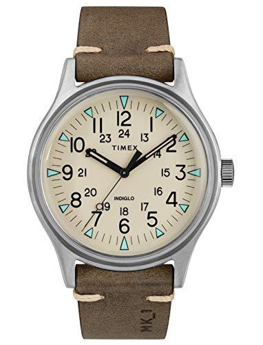 Relógio Timex de couro marrom--TW2R96800