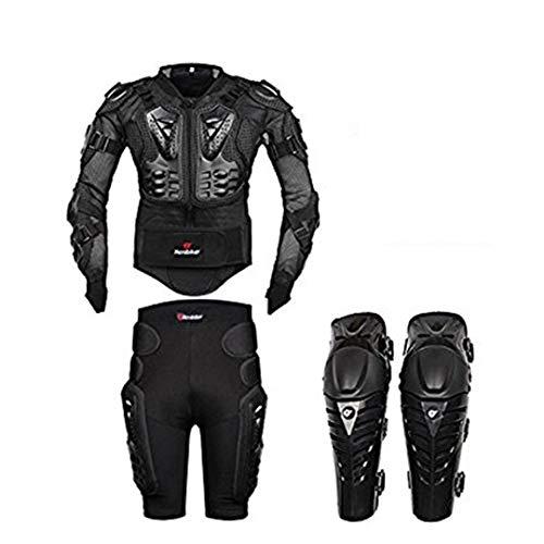 FULUOYIN - Chaqueta Protectora para Motocicleta, para Ciclismo, equitación, Moto, conducción, S-5XL, Hombre, Negro, Large