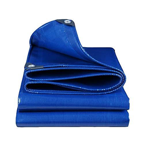 Dall bâche Bâche À Toute Épreuve Imperméable De Plein Air Multifonction Poncho Plier 500G / M² (Couleur : Bleu, Taille : 4 * 5m)