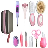 Baby Grooming kit,Baby Care Kits,Baby Brush and Comb Set Baby Scissors Baby Nail Clippers Baby Thermometer Kit Baby Ear Pick Nose Cleaner Newborn Essentials Must Haves Baby Shower Gifts 10 in 1