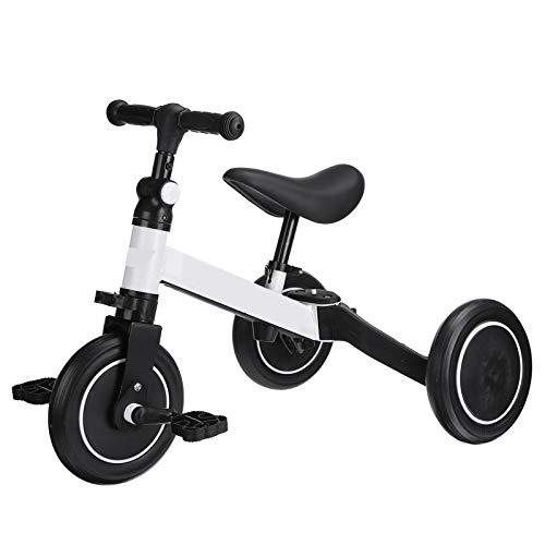 CHUN LING Triciclo para niños, 3 en 1, 2-6 años, Triciclo para niños, niñas, bebé, Bicicleta de Equilibrio, 2 Ruedas para niños pequeños, Triciclo con Pedales extraíbles