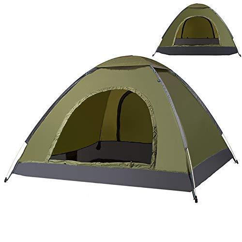 ZLZL 3-4 Personas Tiendas De CampañA Aumentan AutomáTicamente Un Solo Tiro De Playa Tienda De CampañA Salvaje Camping Protector Solar,Armygreen