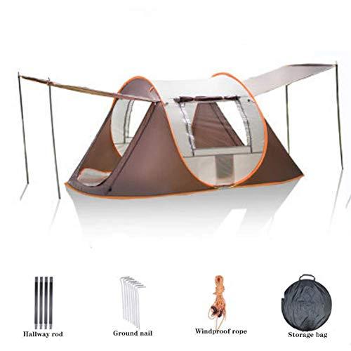 LUSHUN Pop Up Kuppelzelt Wurfzelt, Ultraleicht Zelte Mit Kleinem Packmaß, Kuppelzelt Sofortiges Aufstellen, mit UV Schutz, doppelwandig, wasserdicht,Orange