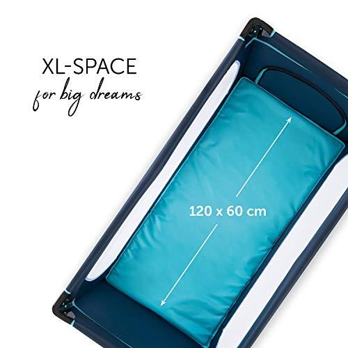 Hauck Kinderreisebett Dream N Play Plus, inkl. Hauck Reisebettmatratze, tragbar und klappbar, 120 x 60 cm, blau - 5