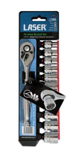 Laser Alldrive 4111 Jeu de clés de Douilles 3/8\