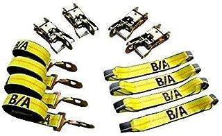 BA Products 38-200SH 8ポイントタイダウンキット ラチェットにスナップフックとストラップ付き ロールバック、フラットベッド、カーホーラー、キャリア用