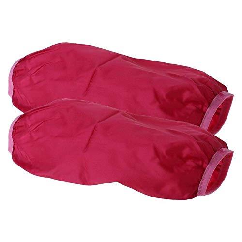 Manguitos Cocina Hogar Limpieza Impermeable con Tapa Gruesa Tela Oxford Antiincrustantes Útil (Rojo) - Rojo, free size