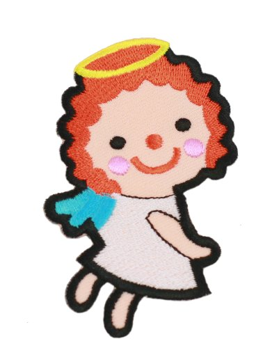 White Angle Iron On Patch For Kids Baby - High Quality