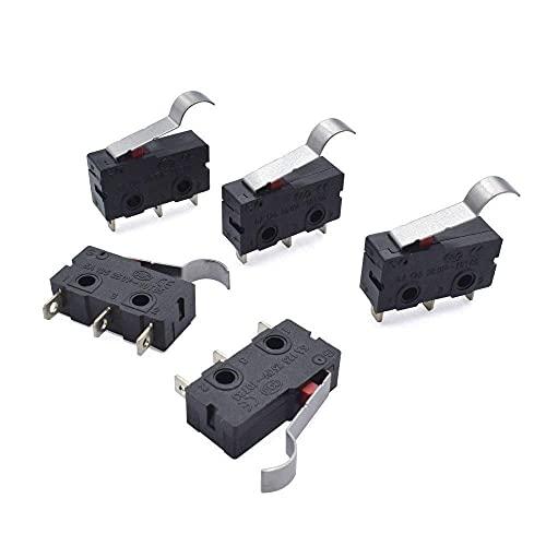 Buena estabilidad Accesorios de impresora 1/5 / 10pcs Impresora 3D Interruptor de límite de impresión Interruptor de botón KW12 Micro Límite Sensor Interruptor automático 3Pins Micro 5A 125 250V Pieza