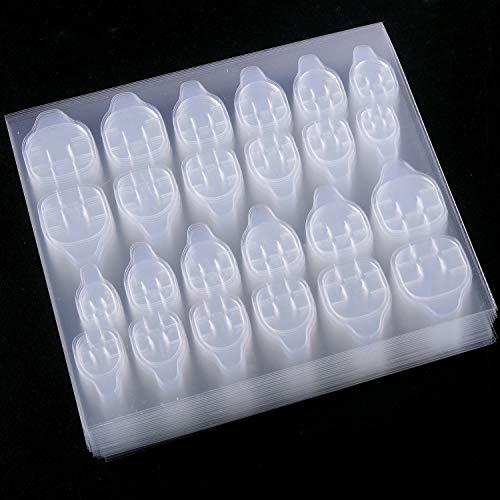 SIUSIO 1200 Pcs Nail Glue Stickers Nail Adhesive tabs False Nail Tips Jelly Gel Nail Art Transparent...