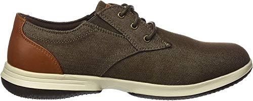 Skechers Herren DARLOW REMEGO Sneaker, Braune Schokoladen-Leinwand, 45 EU