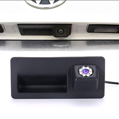 Cámara de Marcha atrás del asa del Maletero con 8 LED cámara de visión Trasera para Maletero de Coche para Audi A3 A4 A4L A5 S5 Q3 Q5 A6 A7 A6L A8L S6 S7 RS5 (LS01578=110mmx50mm)
