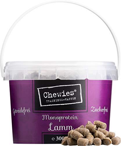Chewies Trainingshappen Lamm - Monoprotein Snack für Hunde - 8 x 300 g - getreidefrei und zuckerfrei - Softe Leckerlies fürs Hundetraining - hypoallergen (2,4 kg)