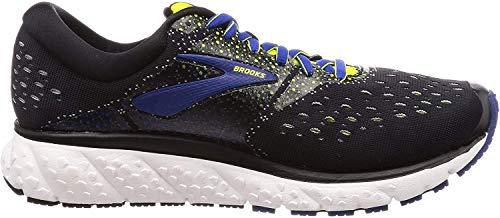 Brooks Glycerin 16, Chaussures de Running Homme, Noir (Black/Lime/Blue 050), 41 EU