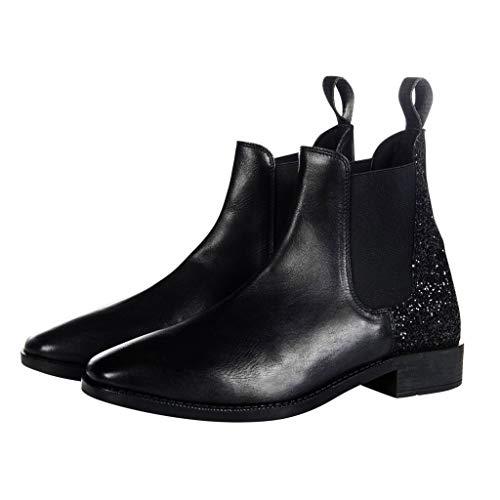 HKM Erwachsene Stiefelette -Black Glitter-9100 schwarz39 Hose, 9100 schwarz, 39