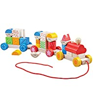 Little ones can create an individual wooden train with 2 carriages & couple up each section for the perfect pull along toy! With lots of different ways to build up the carriages each play session is unique. The ideal pull along toy to improve mobilit...