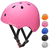 Kids Bike Helmet Toddler Helmet Adjustable Multi-Sport Helmet for Kids 3-8 Years Old CPSC Certified Impact Resistance 11 Vents for Cycling Skateboard Scooter Helmet for Boys Girls (Pink)