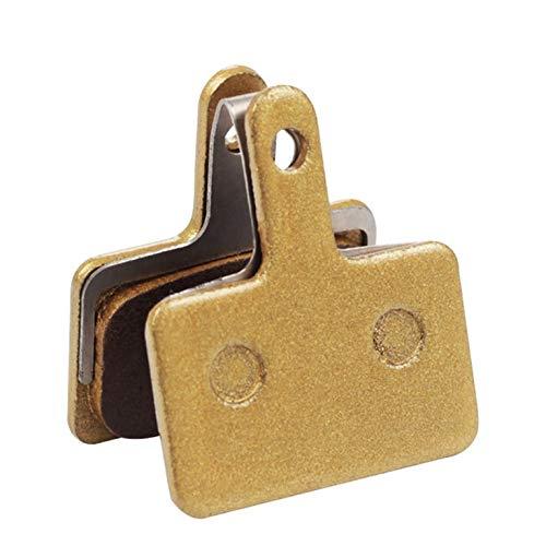 #NA (P182BP) Pastillas de Freno de Disco de Pastillas de Freno de Metal para Sram Avid MTB Pastillas de Freno hidráulicas semimetálicas 1 par de Oro para Shimano