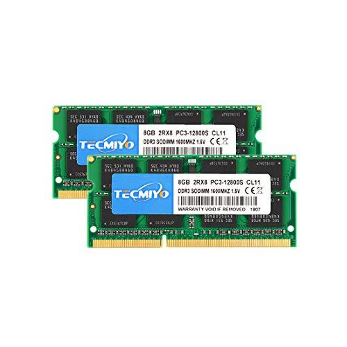 テクミヨ ノートPC用メモリ DDR3 1600 PC3-12800 8GB×2枚 204pin SO-DIMM Mac 対応 永久保証