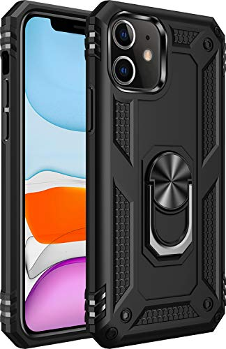 iPhone 11 Case [ Military Grade ] 15ft. Drop Tested Protective Case | Kickstand | Compatible for Apple iPhone 11 6.1 Inch 2019-Black