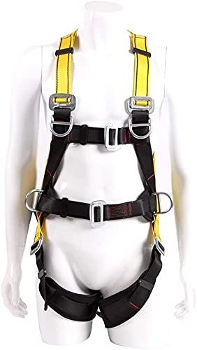 MARHD Half lichaamsveiligheidsriem verstelbare, multifunctionele buitenveiligheidsgordel voor rotsbeklimmen bergbeklimmen Rappelling Luchtwerk