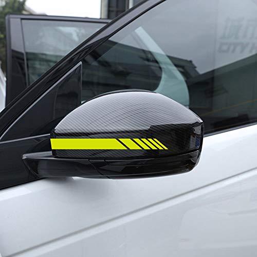Autodomy Rückspiegel Aufkleber Auto mit Streifen Design Stripes Packet mit 6 Einheiten mit unterschiedlichen Breiten für das Auto (Neon Gelb)