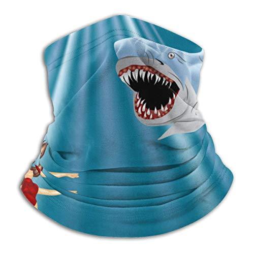 Squirm Factory Halsmanschette, Taucher und Hai Halsmanschette Schild Schal Bandana Gesichtsmaske UV-Schutz