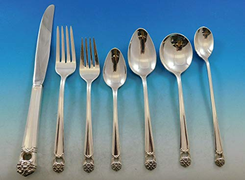 Eternally Yours by 1847 Rogers Silverplate Flatware Set for 12 Service 88 pcs