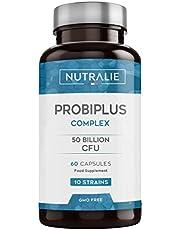 Probiotica 50 miljard KVE per dosis   10 Effectieve en Natuurlijke Stammen voor Darmflora   60 Maagsapresistente Capsules voor een betere Absorptie Nutralie