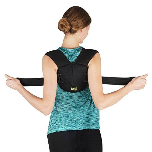 Soles Vendaje de clavícula Tela Ajustable, Flexible y Transpirable - Unisex - Mejora la Mala Postura y la osteoporosis - Órtesis de clavícula para Lesiones de clavícula (Pequeña/Medio)