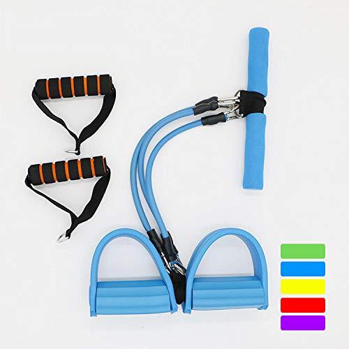 Schlingentrainer DREI-Rohr-Pedal Pedal Klimmzüge Sit-Ups Bauch Fitnessgeräte Multifunktionale Fitnessgeräte-Blau