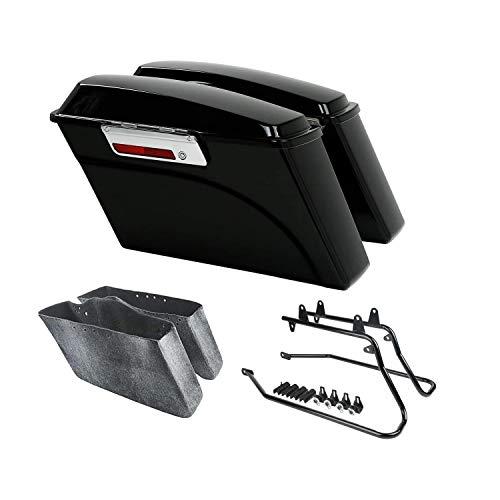 Tengchang Hard Saddlebags Saddle Bags W/ Conversion Brackets For HARLEY DAVIDSON Softail