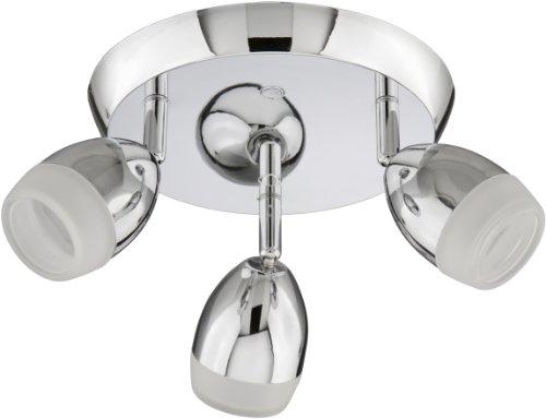 LED Wandleuchte, Deckenleuchte, Spot, LED Deckenstrahler, LED-Platine 3 x 3W, 200 Lumen, schwenkbar, chrom
