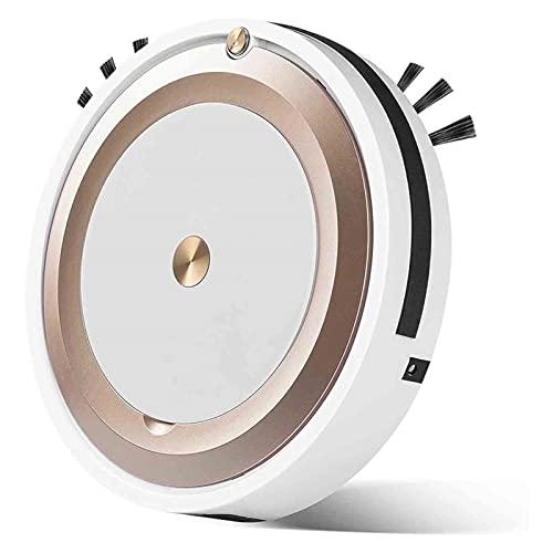 Robot aspiradora, máquina de Limpieza de Limpieza de Mini Piso, Calma, 3 Modos de Limpieza de sincronización, para Mascotas Pisos Duros para Pisos de Limpieza barredora (Color : Gold)