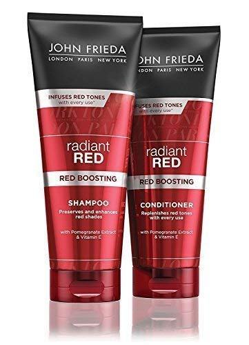 John Frieda Radiant Red Neu Rot Stärkung Shampoo + Spülung 250ml Je