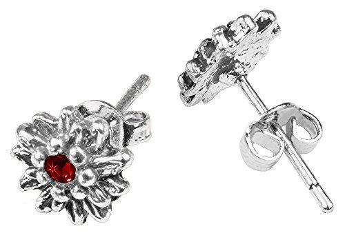 LUISIA® Edelweiß Ohrringe Marla mit Kristallen von Swarovski® - Dunkelrot