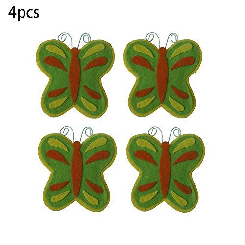 ADSIKOOJF 4 Stks Butterfly Bag Lepel Vork Tas Opbergtas Tableware Case Voor Keuken Tafel Decoratie