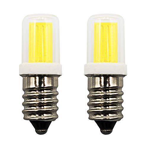 E14 LED 2W Fridge Bulbs 20W 240V Cool White 6000K Halogen Equivalent for Freezer/Microwave/Cooker Hood/Sewing Machine Appliance Light Bulb, Pack of 2
