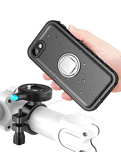 Cozycase Supporto Bici per iPhone SE 2020  iPhone 7 iPhone 8 (4,7 ), Porta Smartphone da Bicicletta e Moto con Custodia Impermeabile