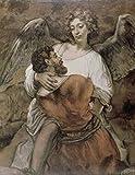 Rembrandt Harmensz van Rijn – Jacob Wrestles with an