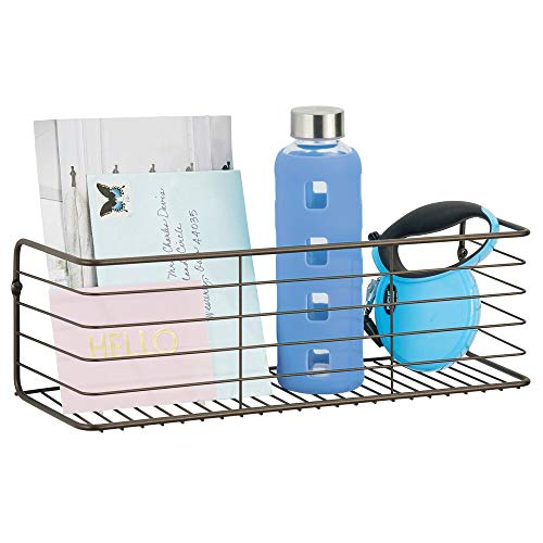 mDesign Wandregal für Bad, Küche, Flur oder Waschküche – breite Ablage zur Wandmontage aus...